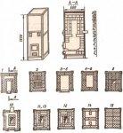 Функциональная схема печи 11 аналогична печи 8. Горячие газы из топливника выходят через центральный квадратный проем...